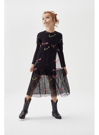 Tyess Kız Çocuk Siyah Elbise 20Fw0Tj4905 Siyah